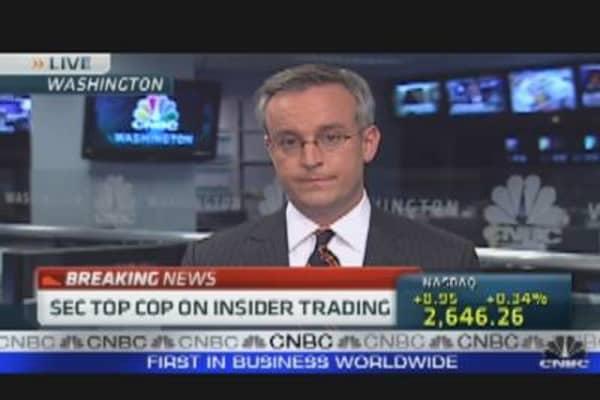 SEC Top Cop Talks Insider Trading