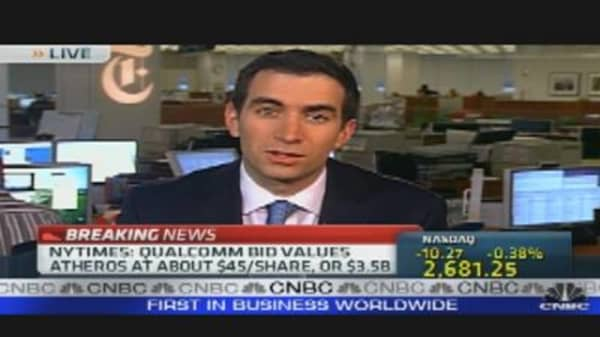 Qualcomm Near Deal to Buy Atheros Comm.