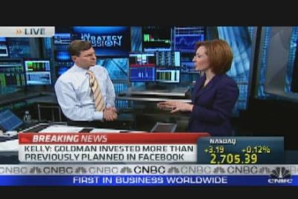 Goldman Invested More Than Planned in Facebook