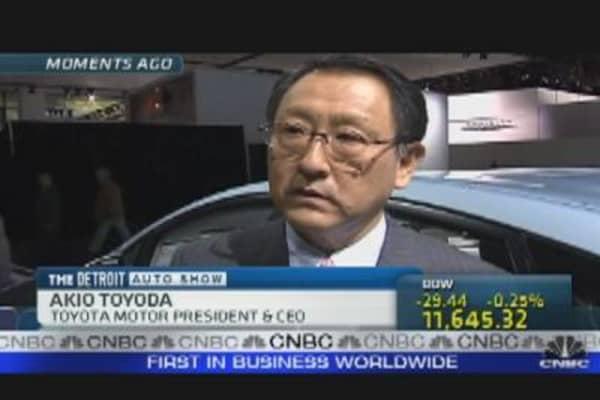Akio Toyoda at Detroit Auto Show