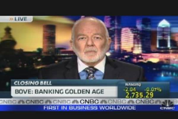 Bove: Banking Golden Age