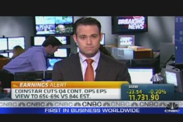 Coinstar Shares Halted