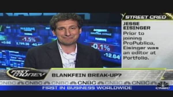 Blankfein Break Up?