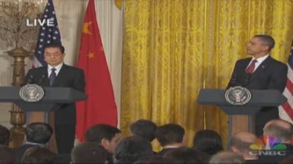 Obama, Hu Press Conference