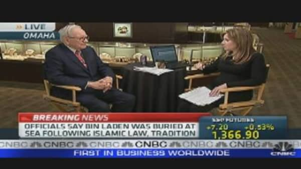 Buffett & Welch on Bin Laden Death