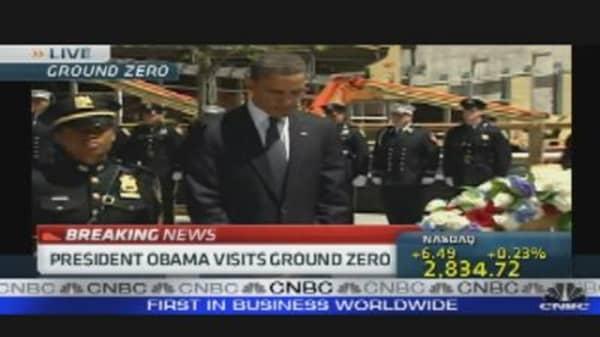 President Visits Ground Zero