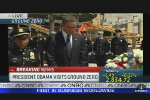 President Visits Ground Zero