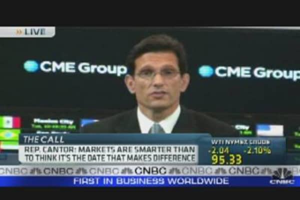 Eric Cantor Talks Debt Ceiling