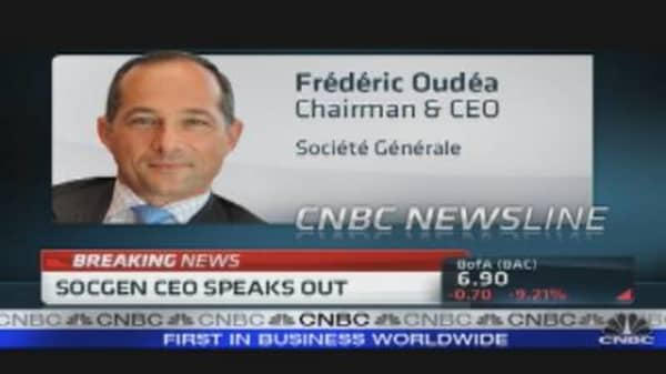 SocGen CEO Speaks Out