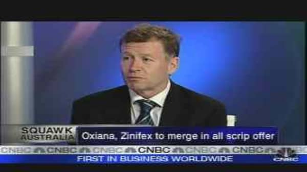 Oxiana and Zinifex to Merge