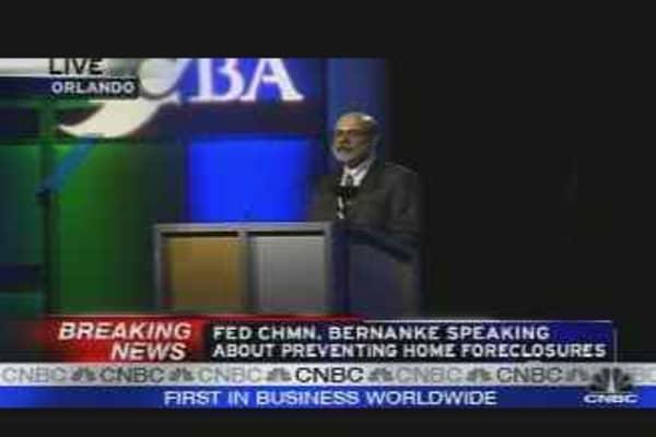 Bernanke on Foreclosures