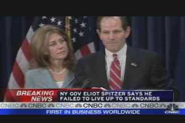 NY Governor Eliot Spitzer Apologizes