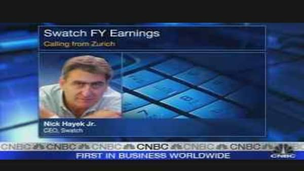 Swatch CEO Bullish on Outlook