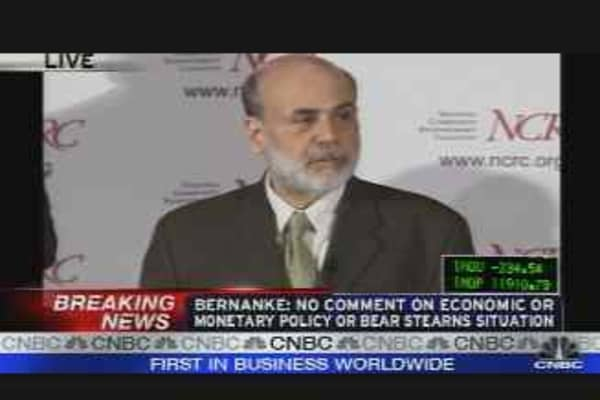 Bernanke on Fed's Mortgage Plan, Pt. 1