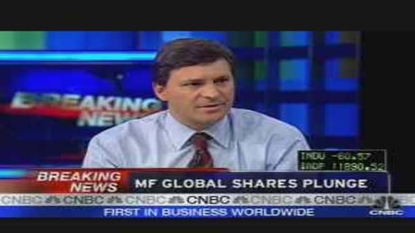 MF Global Shares Fall