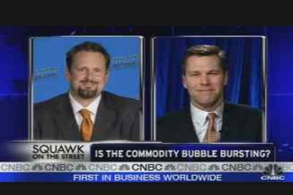 Commodity Bubble Bursting?