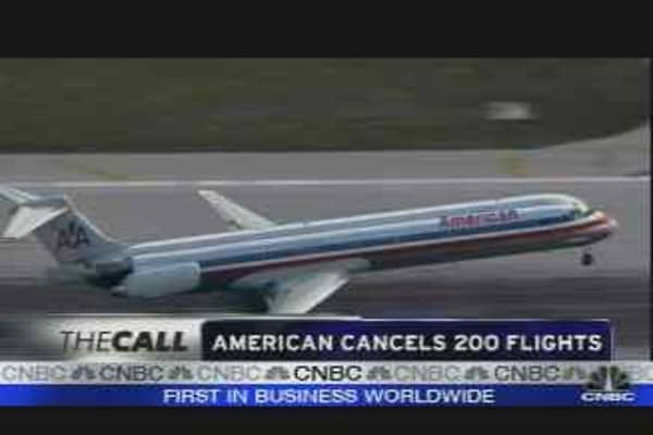 American Cancels 200 Flights