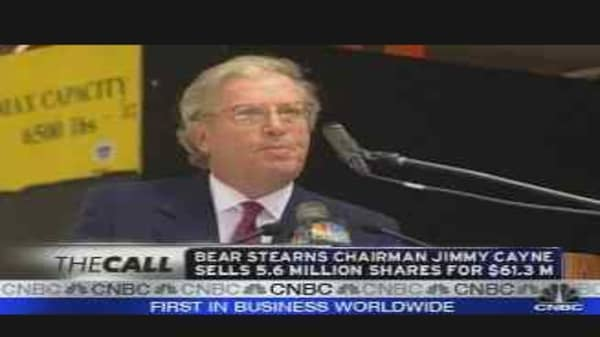 Jimmy Cayne Sells Bear Stake