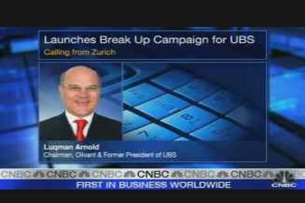 Former UBS CEO Calls for Shakeup