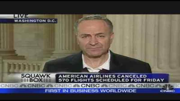 Sen. Schumer on AMR Cancellations