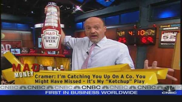 Cramer Plays Ketchup