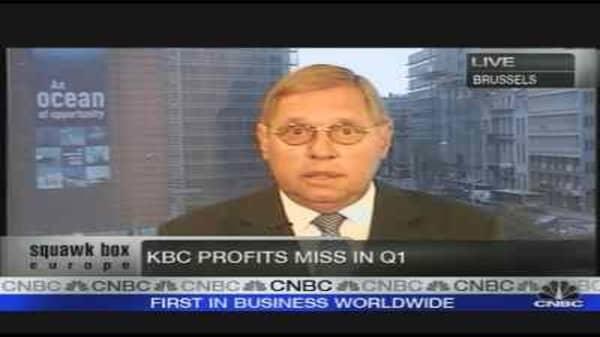 KBC Bank Posts Profit Drop