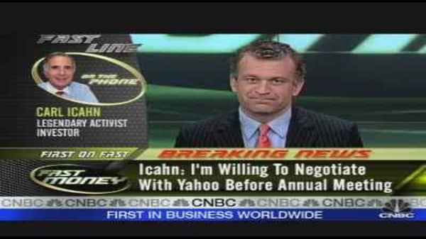 Icahn Answers Yahoo