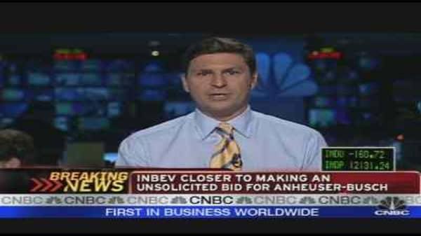 InBev Closing in on Anheuser-Busch