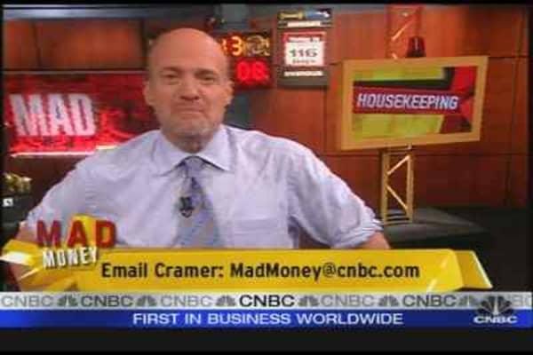 Cramer Is Housekeeping