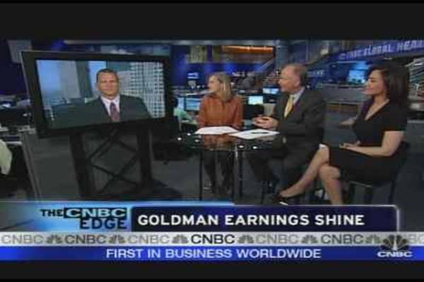 Goldman Earnings Shine