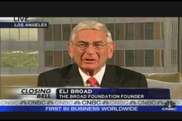 Eli Broad Pushing for Change at AIG