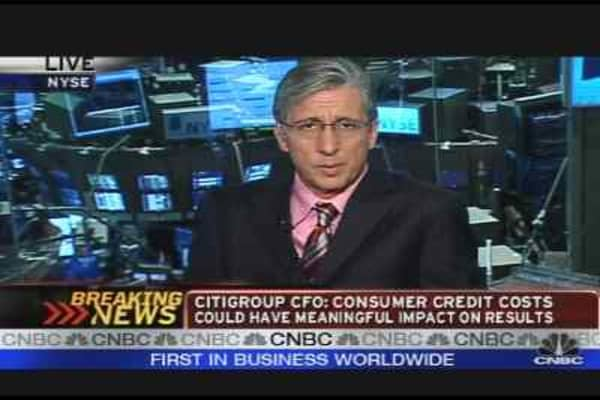 Citigroup CFO on Credit Costs
