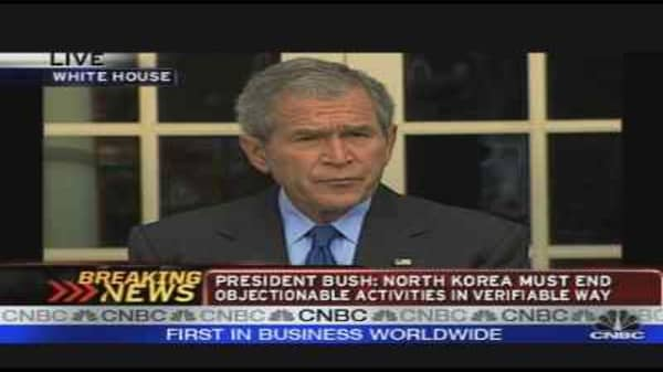 President Bush Speaks on North Korea