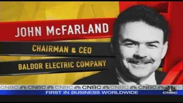 Baldor Electric CEO
