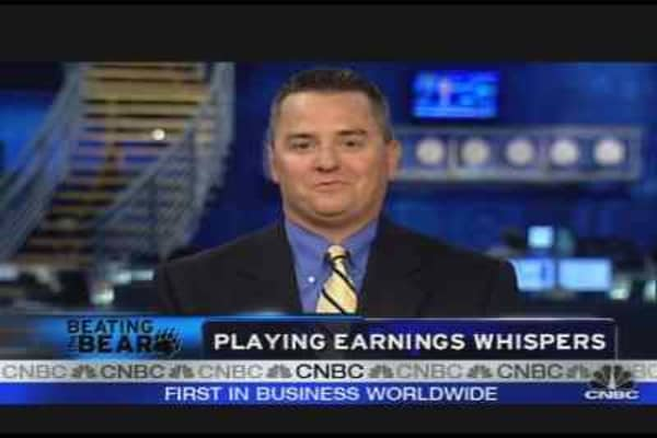 Playing Earnings Whispers