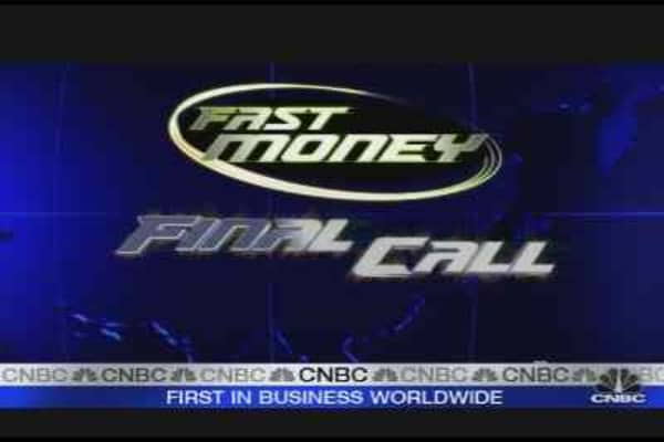 Fast Money Oil Call