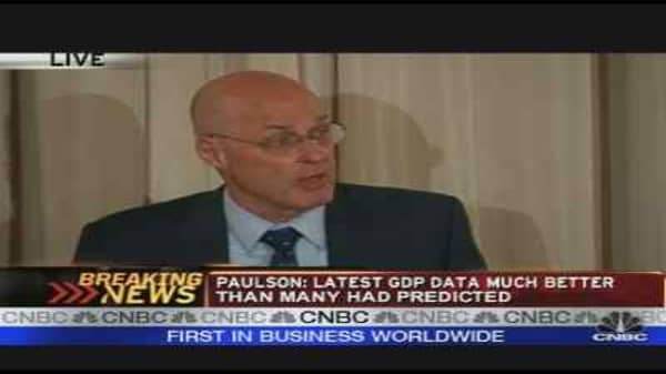 Paulson on the Economy