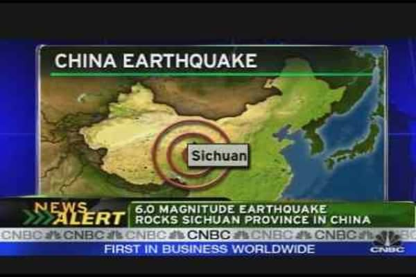 Earthquake Rocks Central China