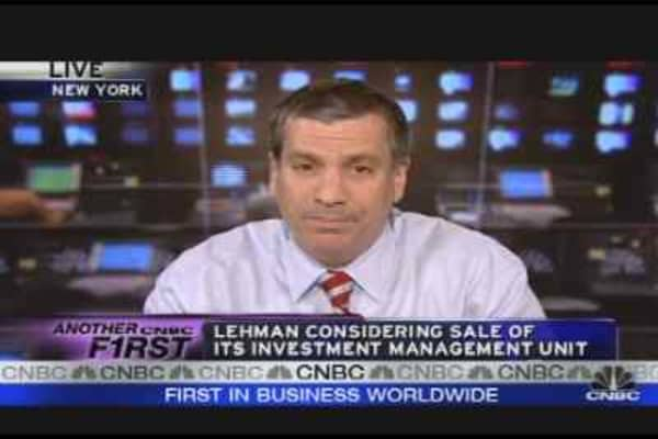 Lehman Considers Selling Investment Unit