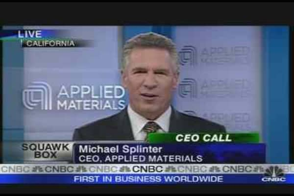 Applied Materials CEO: Recovery in Sight