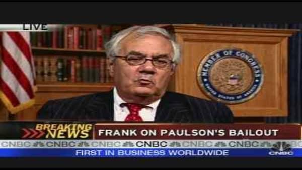 Barney Frank on Paulson's Bailout