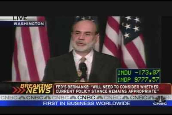Bernanke on the Economy, Pt. 1