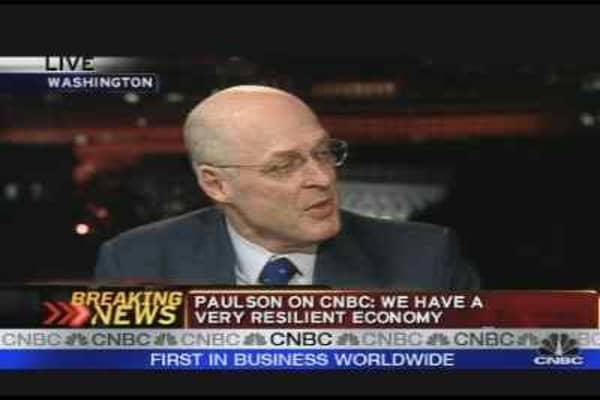 Paulson on the Markets, Pt. 2