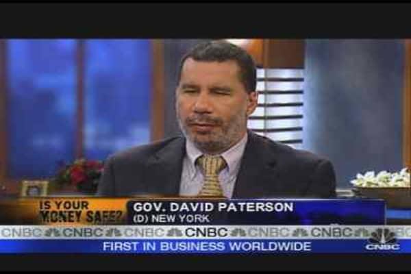 Gov. Paterson on Financial Turmoil