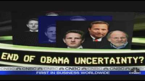 End To Obama Uncertainty?