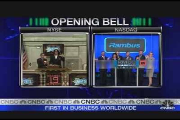 Gene Simmons Rings Opening Bell