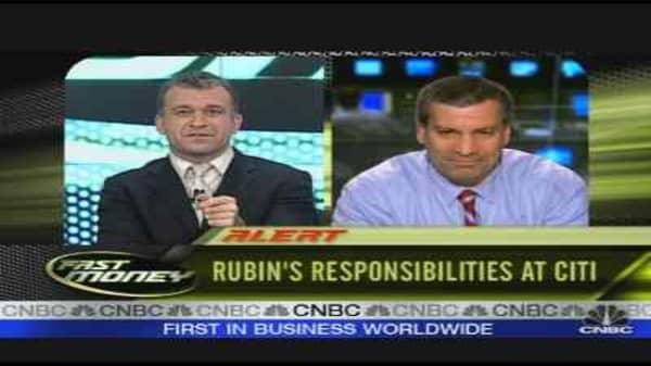 Rubin's Responsibilities at Citi