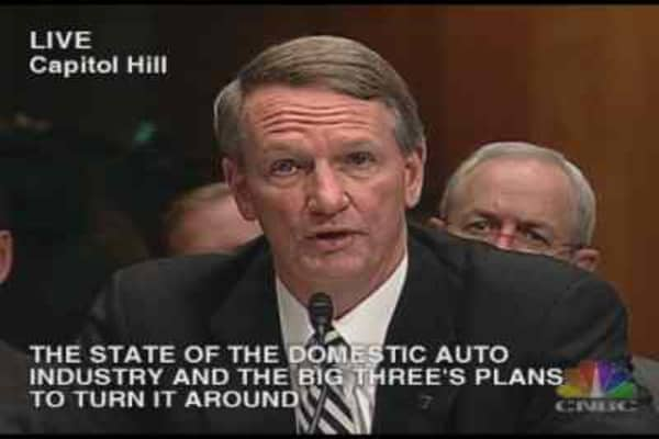 Auto Hearing: Richard Wagoner Statement