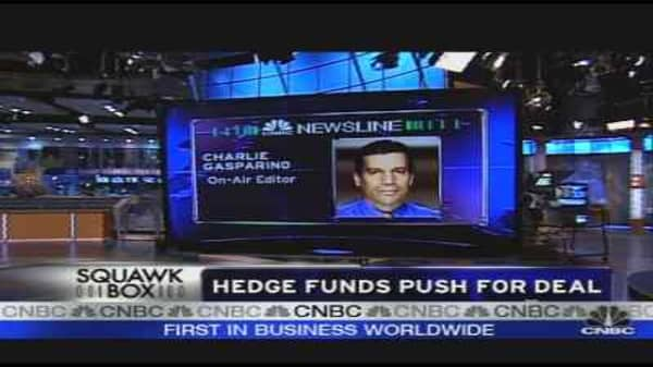 Hedge Funds Push for a Deal