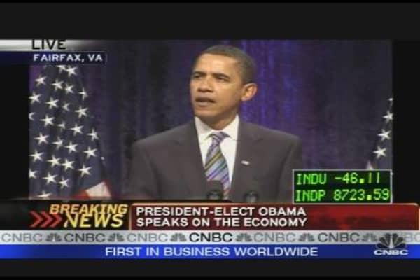 President-Elect Obama on the Economy